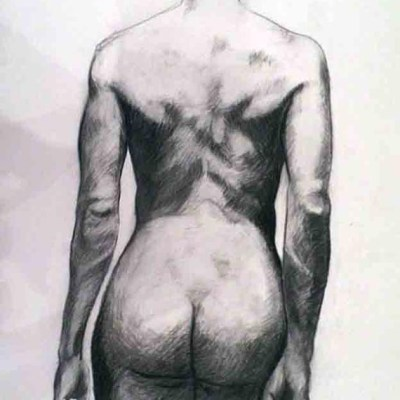 Female Nude #3. Charcoal on Paper. 42cm by 60cm, (2013)
