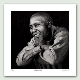 Albert Luthuli Paper Print - Limited edition artist paper prints by South African artist Marc Alexander as part of his 'Legacy' Series. Original painted in oils