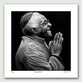 Desmond Tutu Paper Print - Limited edition artist paper prints by South African artist Marc Alexander as part of his 'Legacy' Series. Original painted in oils