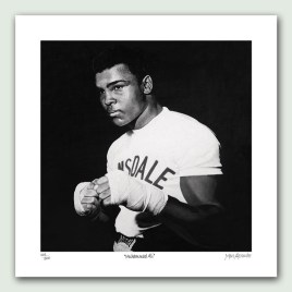 Muhammad Ali Paper - Limited edition artist paper prints by South African artist Marc Alexander as part of his 'Legacy' Series. Original painted in oils