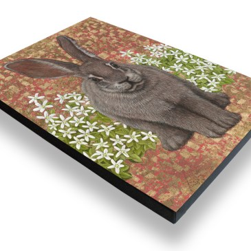 Riverine Rabbit – Archival Canvas Print Stretched