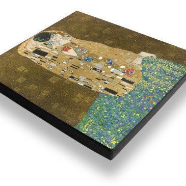 The Kiss After Klimt – Archival Canvas Print Stretched