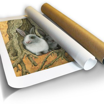 Rabbit Hole – Archival Canvas Print in a Tube
