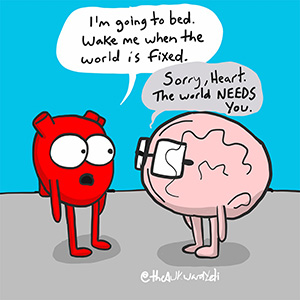 Awkward Yeti - The World Needs Heart webcomics
