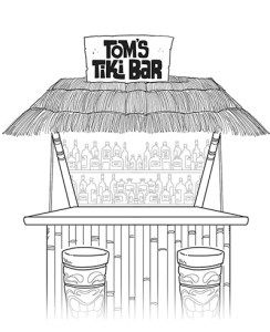 toms tiki bar web comic