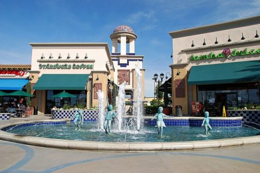 redlands plaza fountain where I play piano and sing