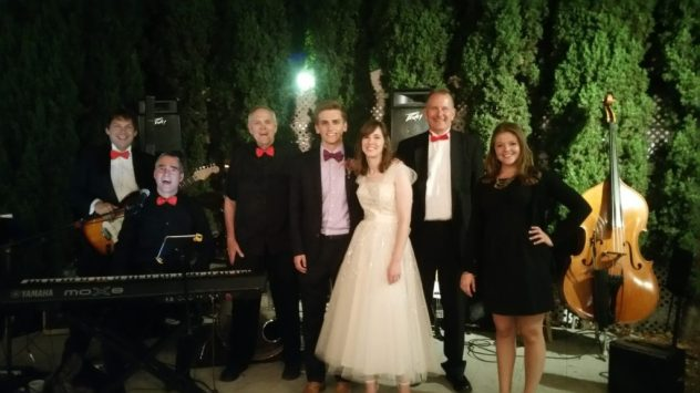 Wedding Band Bride Groom Guest Singer and  Bass