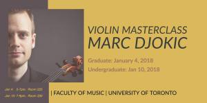 marc djokic masterclass, university of toronto.