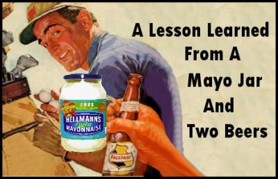 """Résultat de recherche d'images pour """"mayonnaise and two beers"""""""