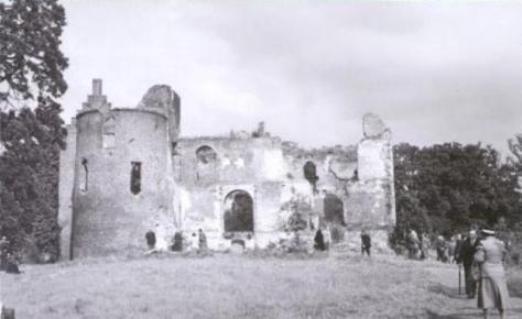 De ruïne van kasteel Nederhemert.