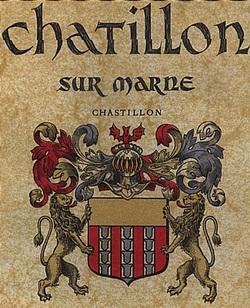 Het wapen van het huis van Châtillon.