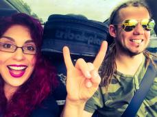 Johan and me on our way to another gig