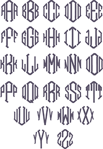 Picture of Point Monogram Font