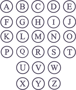 Picture of SIngle Circle font