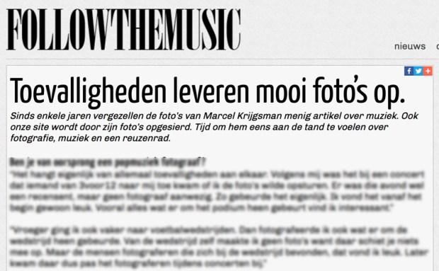 Interview met Marcel Krijgsman op Follow The Music