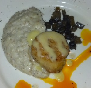 Scallop with Portland Creamery Fresh Chevre with Sunchoke Puree