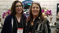 Liz and Cypress Grove's Mary Keehn at 2015 SF CMI