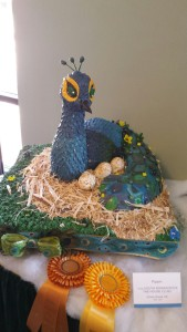Peahen Gingerbread House... not the Grand Winner, but my favorite