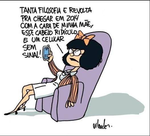 E até Mafalda se rendeu ao sistema