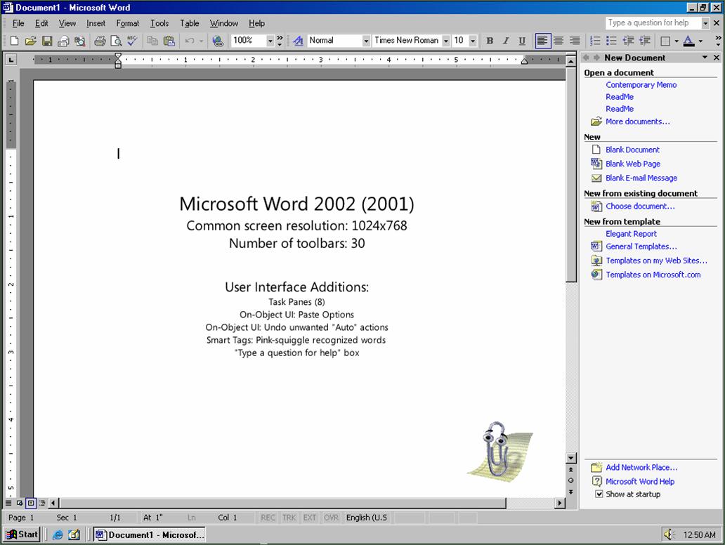 Evolución gráfica de Microsoft Word (1989-2007) - Marcelo Pedra