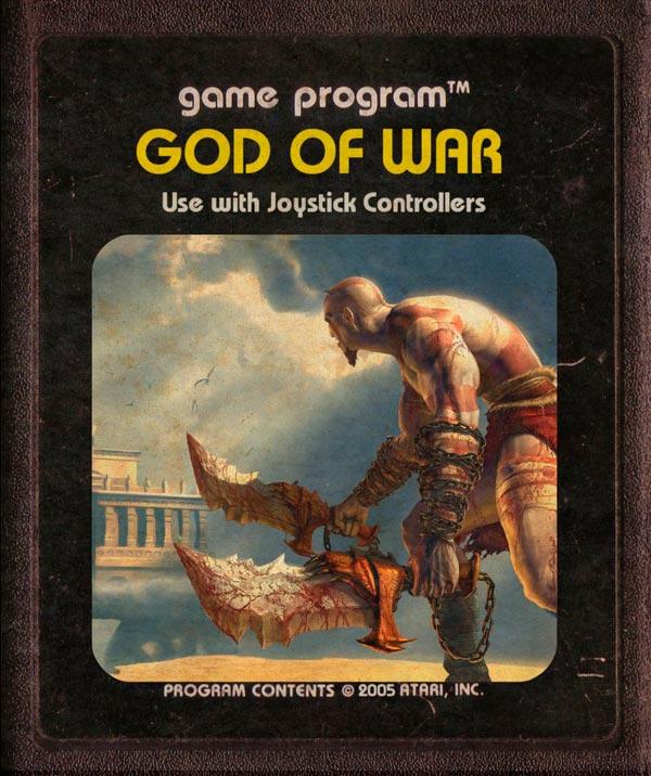 Videojuegos modernos como cartuchos de Atari - God of War