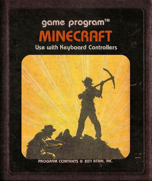 Videojuegos modernos como cartuchos de Atari - Minecraft