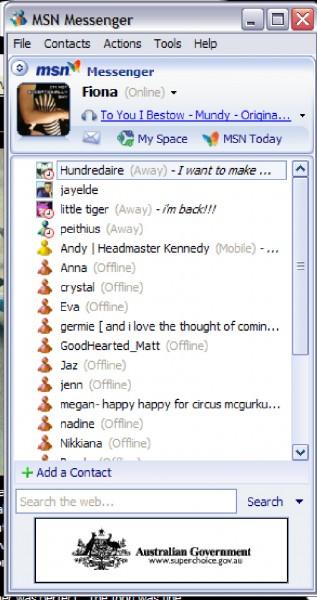 Messenger 5 (2005) - evolución de messenger
