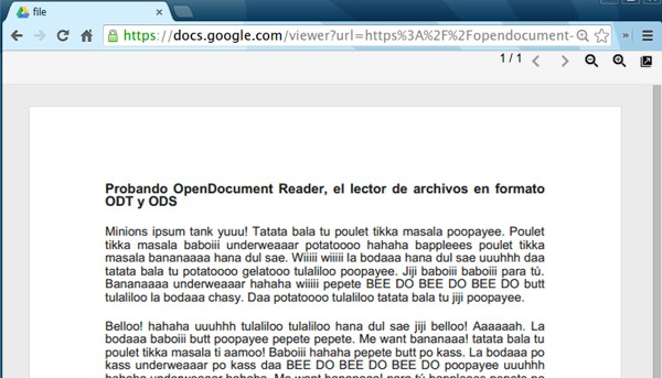 OpenDocument Reader