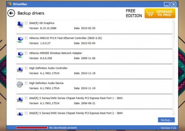 restaurar drivers en windows drivermax