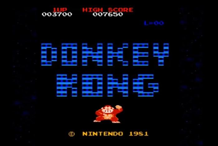 donkey kong intro