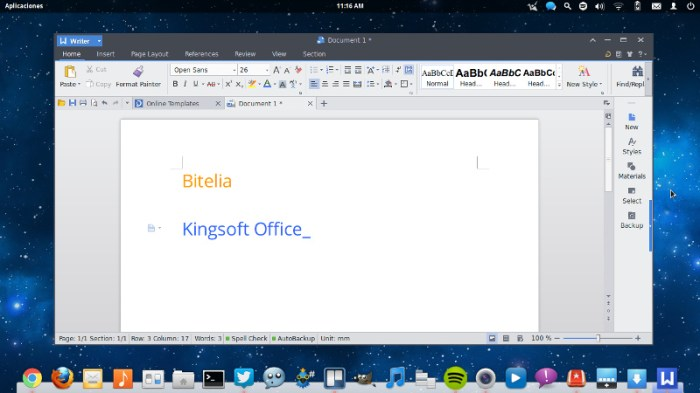 kingsoft office writer