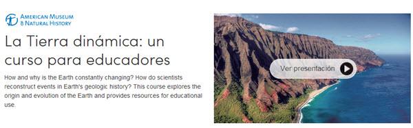 La Tierra dinámica: un curso para educadores