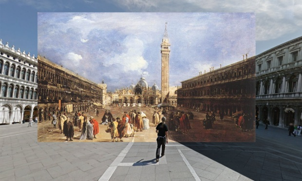 The Piazza San Marco towards the Basilica (Venecia) - 1760-5 - Francesco Guardi