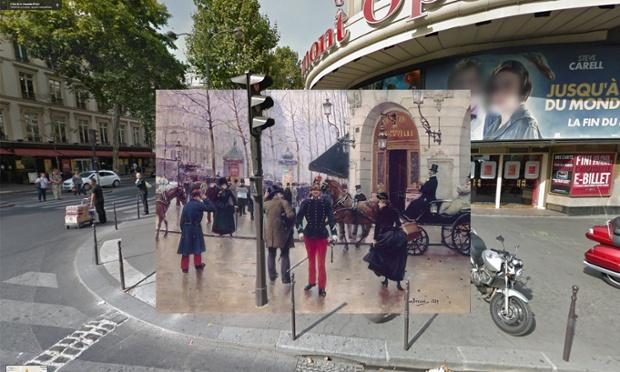 Paris - Le boulevard des Capucines devant le theatre du Vaudeville - 1889 - Jean Beraud