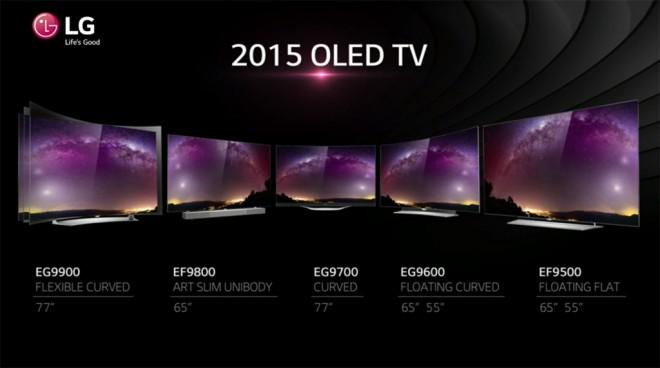 LG OLED para 2015