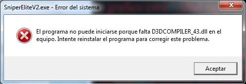 error d3dcompiler_43.dll