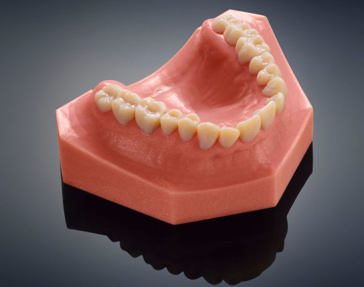 impresora 3D que imprime dientes