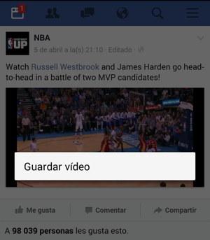 facebook bajar video