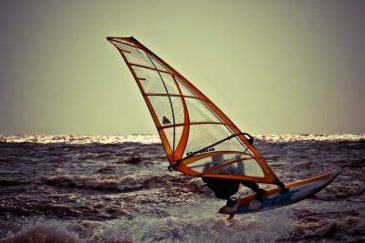 Surfplank uit het water