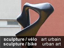 Sculpture sur local à vélo : art urbain