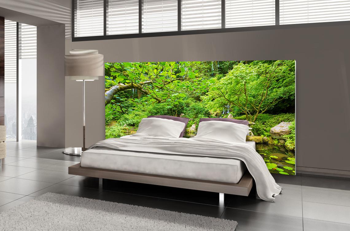 tete de lit jardin zen lit de 140