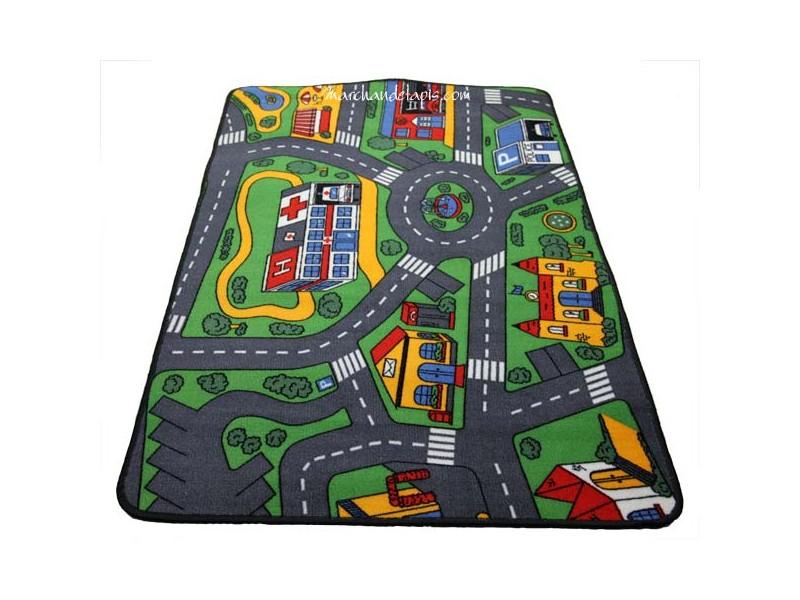 tapis enfant circuit voiture 93cm x 133cm