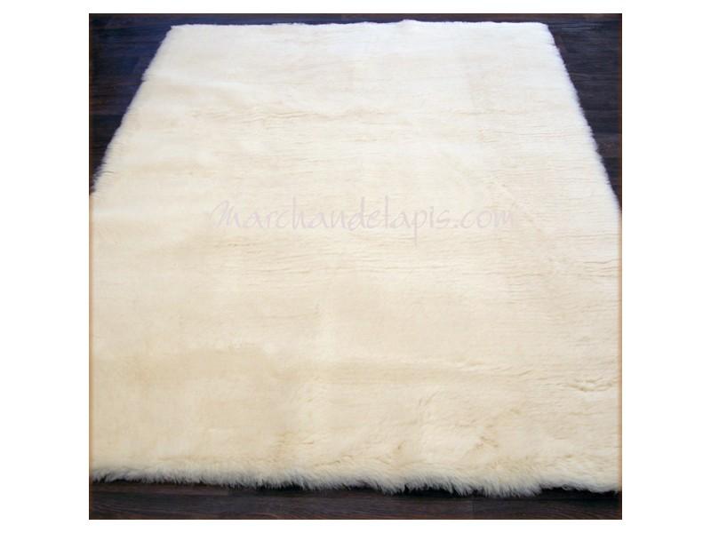 tapis laine 140cm carre naturel
