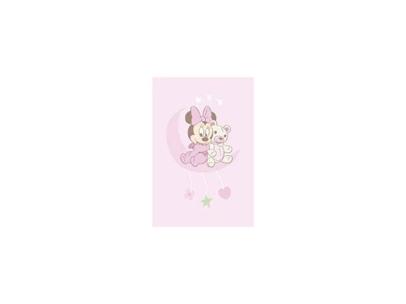 tapis enfant disney minnie baby rose 100x150cm