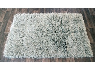 flokati pure laine vierge 90cmx150cm 2000gr gris