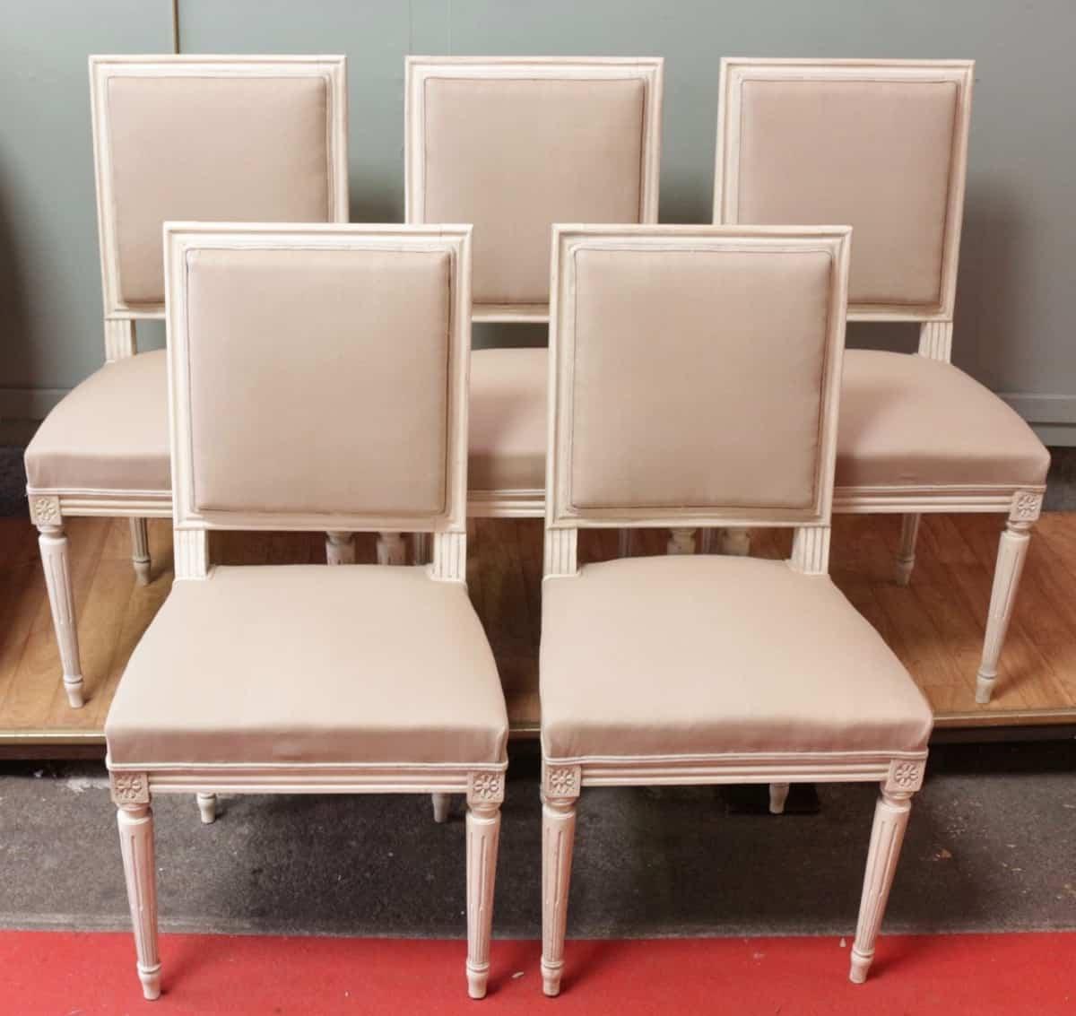 serie de 10 chaises de style louis xvi