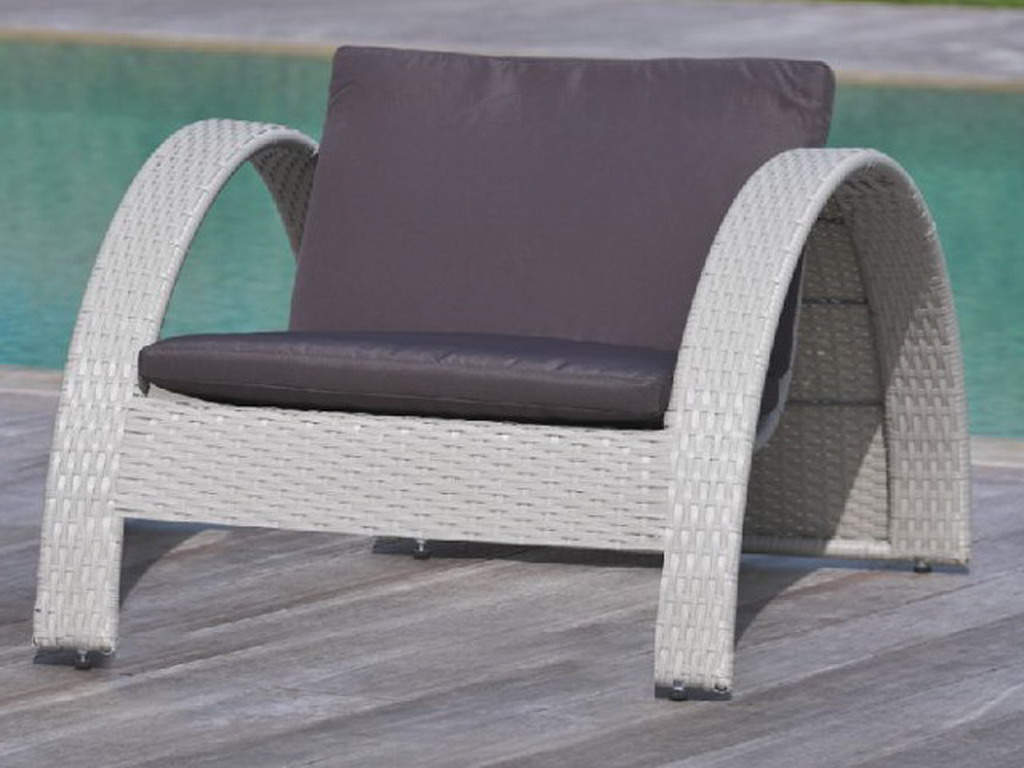 bain de soleil portovecchio swing resine tressee gris