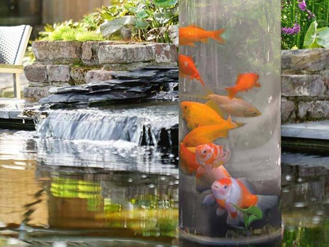 decoration de bassin fishtower ubbink h66 cm