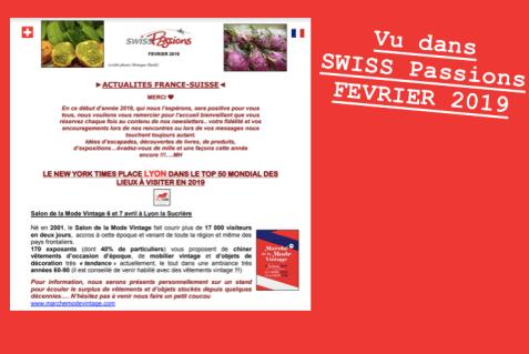 Revue de presse SWISS Passions MMV