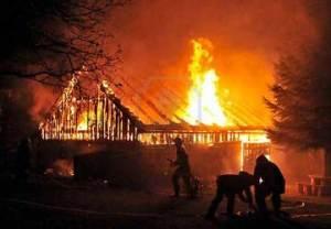 Incendio in una villetta